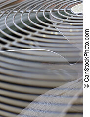 blur abstract of a fan grate - grill of an air conditioner...