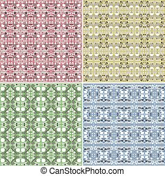 Vector Seamless Colorful background Collection - vintage tile