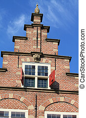 traditional dutch crow stepped gable - A crow stepped gable...
