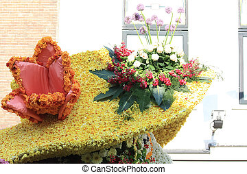flower arrangement on a floral parade - Flower composition...