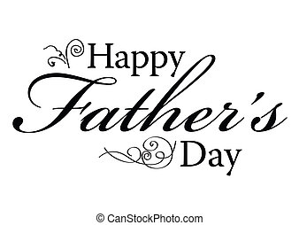 Happy Fathers Day Type - Happy Fathers Day Vector Type