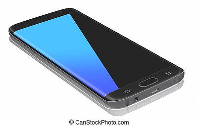 Black Smartphone Edge on white background