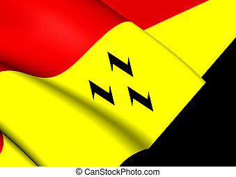 Flag of Purmerend (North Holland), Netherlands. - 3D Flag of...
