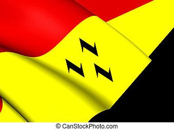 Flag of Purmerend (North Holland), Netherlands. - 3D Flag of...