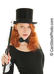 Portrait luxury woman in black - Portrait woman as dandy...