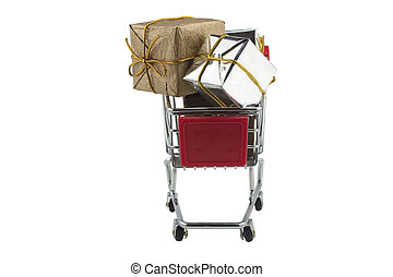 PRESENTS IN A SUPERMARKET TROLLEY