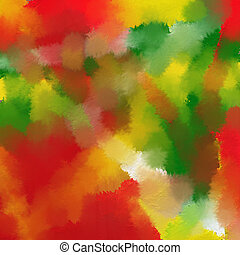 Autumn color abstract - Abstract oil painting in autumn...