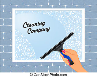 cleaning service - illustration of cleaning service