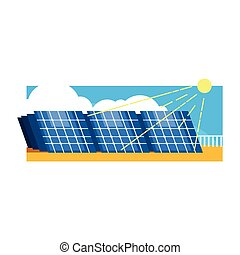 Alternative Energy Solar Power Flat Vector Illustration In...