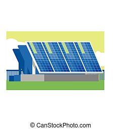Alternative Energy Solar Panels Flat Vector Illustration In...