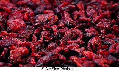 Cranberries In Pile Rotating