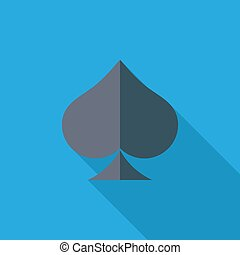 Card suit icon - Spades icon. Flat vector related icon with...