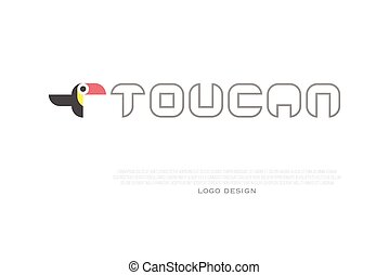 logo toucan - colorful, tropical bird icon and corporate...
