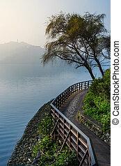 Quiet lake at dawn