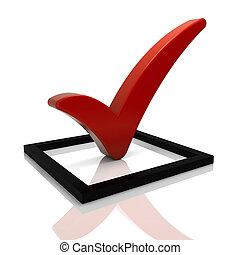 Red Tick Symbol