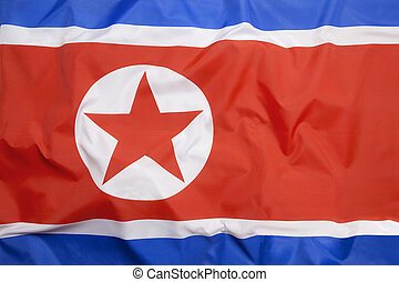 Flag of North Korea as a background