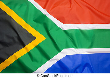 Flag of South Africa as a background