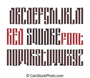 The latin stylization of Old slavic font - Red Square font...