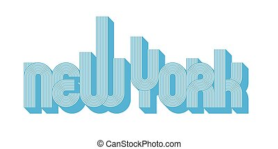 New York Skyline - Vector Illustration of the word New York...