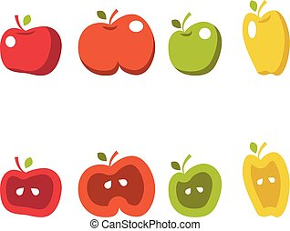 Illustration set of apples