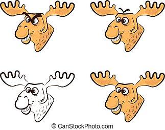 Vector Illustration of Cartoon elk