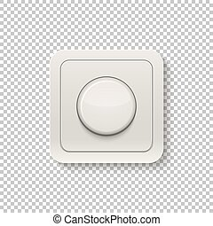 Realistic switch isolated on a transparent background. V