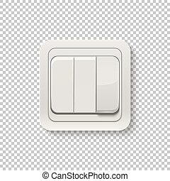 Realistic switch isolated on a transparent background.