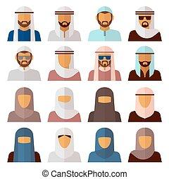 Middle Eastern People Avatars