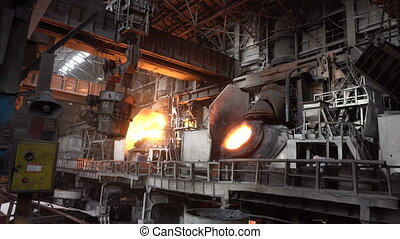 View of the working shop 14 - Stages of the steel plant for...