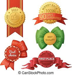 Set of badges and labels isolated on white background Vector...