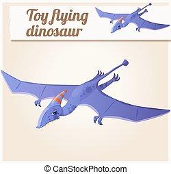Toy flying dinosaur 5. Cartoon vector illustration. Series...