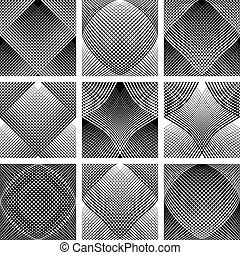 Mesh patterns Convex and concave optical effect Design...