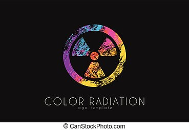 Radiation logo. Color radiation design. Creative logo