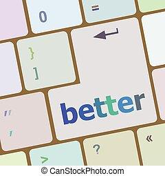 palabra, Ilustración, mejor,  PC,  vector, llave, teclado, computadora