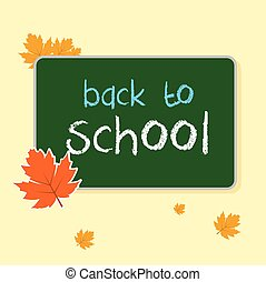 Illustration blank with board back to school