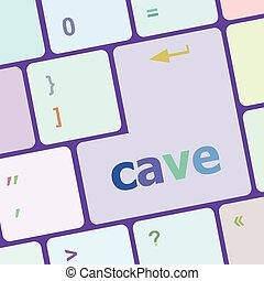 cave key on computer keyboard button vector illustration