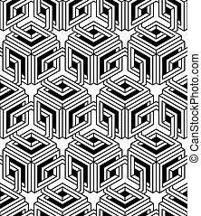 Regular contrast endless pattern with intertwine...