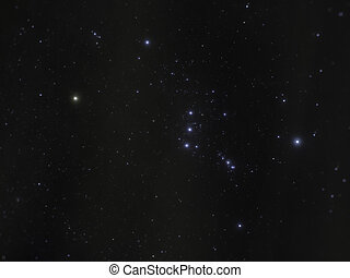 Orion Constellation - Long exposure image of the...