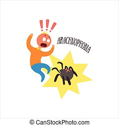 Aracnophobia Vector Illustration - Aracnophobia Simplified...