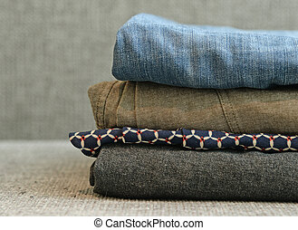 Color Clothes in stack