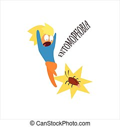 Entomophobia Vector Illustration - Entomophobia Simplified...