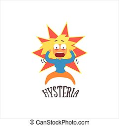 Hysteria Vector Illustration - Hysteria Simplified Design...