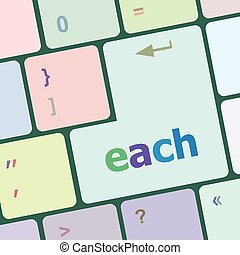 each button on computer keyboard vector illustration