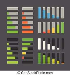 Charge bar collection Application design elements