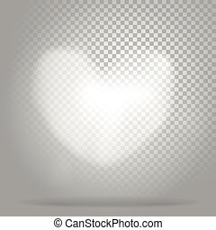 White heart of clouds on transparent background