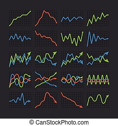 Graphic business ratings and charts collection. Infographic...