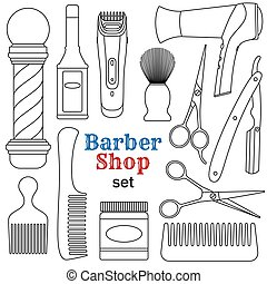 Barber shop set. Vector illustration.