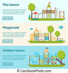 Playground Concept Banners - Horizontal color banners with...