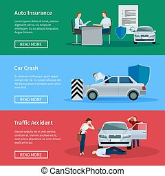 Auto Insurance Horizontal Banner Set - Auto insurance...