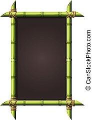 Blackboard in square bamboo frame